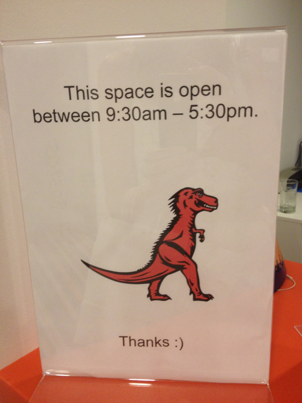 Mozilla Welcome Sign